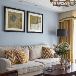 美式三居客厅壁画设计图