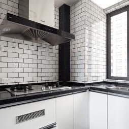 现代黑白灰厨房设计图
