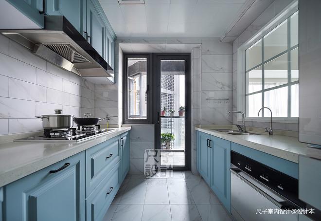 138㎡优雅简美风厨房设计图