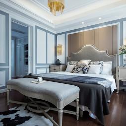 西式雅灰卧室设计图