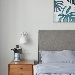 北欧复式卧室床头灯设计图片