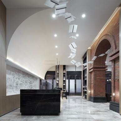 万科金色里程销售中心大堂设计图