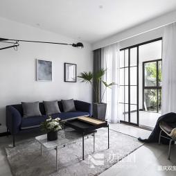 清爽北欧风客厅沙发设计图