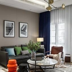 灰色调现代风别墅客厅设计