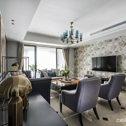 小美式三居客廳設計