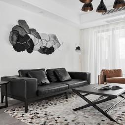 黑白现代风格三居客厅设计