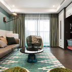 清爽现代风格三居客厅设计