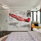 清爽现代风格三居儿童房设计