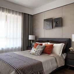现代风格样板房卧室设计欣赏