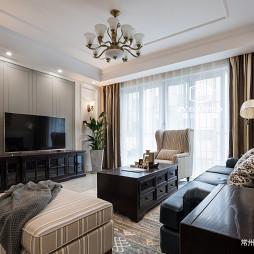简约美式风格三居客厅设计