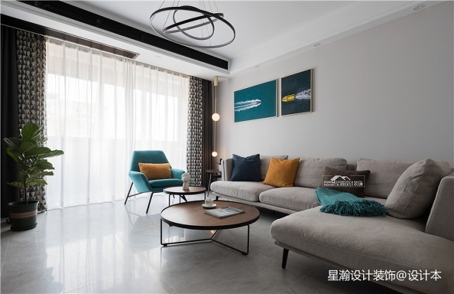 简欧风三居客厅设计欣赏