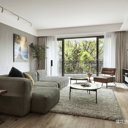 现代轻奢风三居客厅设计