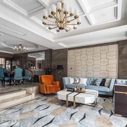 大气混搭风格别墅客厅设计