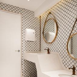 梦幻岛亲子餐厅洗手间设计
