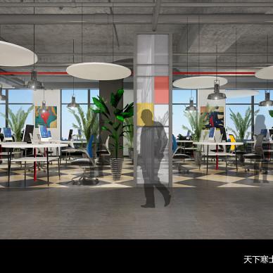 IT公司办公室:一个要求开放设计与功能性的空间。_3309688