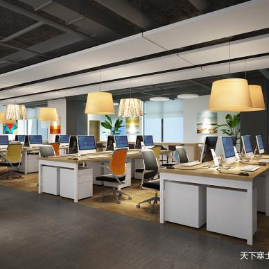 IT公司办公室:一个要求开放设计与功能性的空间。_3309689
