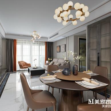 现代轻奢三居客厅设计