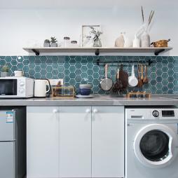明亮混搭風廚房設計