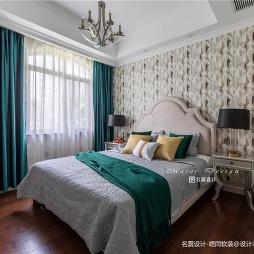 明快美式风别墅卧室背景墙设计