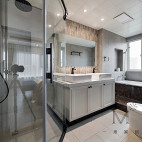 简约美式三居卫生间设计