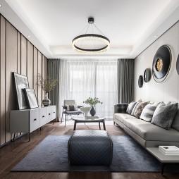 混搭樣板房客廳背景墻設計