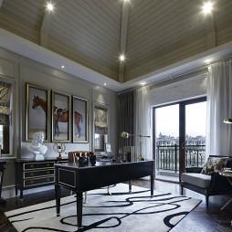 现代美式别墅书房设计