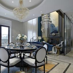 现代美式别墅餐厅设计