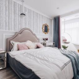 现代美式二居卧室设计