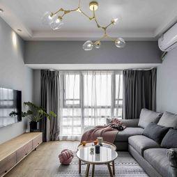 浪漫北欧三居客厅设计