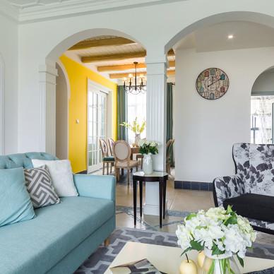 武汉135㎡三居室,3米高的客厅做了3根拱形柱,庄严优雅!_3318563