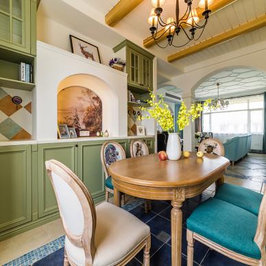 武汉135㎡三居室,3米高的客厅做了3根拱形柱,庄严优雅!_3318565