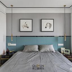 时尚现代风三居卧室背景墙设计