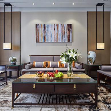 大气中式别墅客厅沙发墙设计