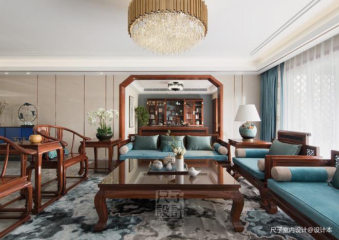 气质新中式客厅设计
