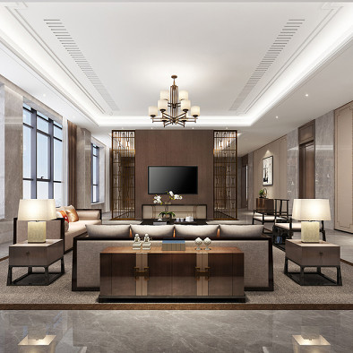 河北私人豪宅设计-中式雅奢