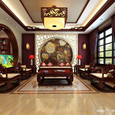 新中式风 金地紫乐府设计作品_3320518