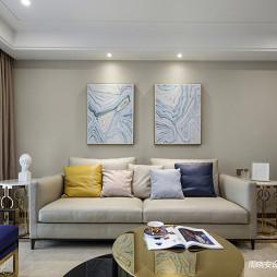 简约混搭四居沙发背景墙设计