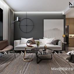 简约新台式沙发背景墙设计