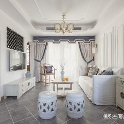 徽派中式四居客厅吊顶设计