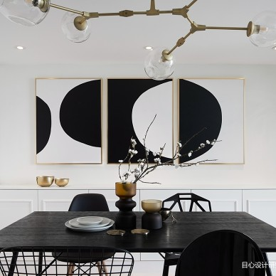 黑白混搭复式餐厅设计