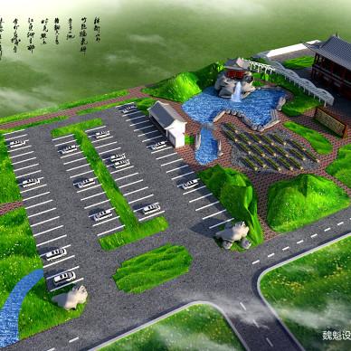 建筑外景园林厂房鸟瞰图6_3328458