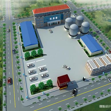 建筑外景园林厂房鸟瞰图9_3328461