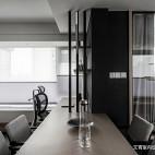 黑白现代三居餐厅设计