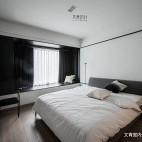 黑白现代三居卧室设计