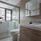 黑白现代三居洗手间设计