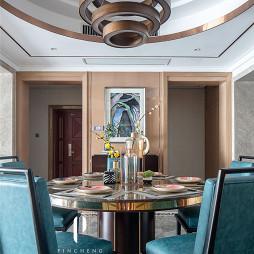 现代四居餐厅吊顶设计