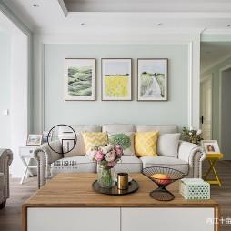 清爽舒适混搭沙发背景墙设计