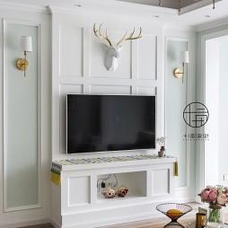清爽舒适混搭电视背景墙设计