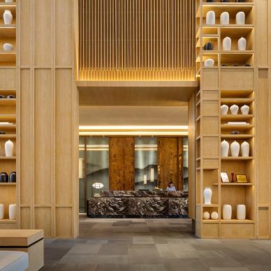 保利皇冠假日酒店大堂总台设计