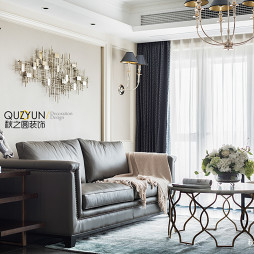 现代美式客厅背景墙设计